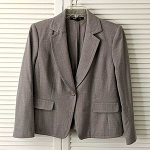 Ellen Tracy gray 1 button blazer